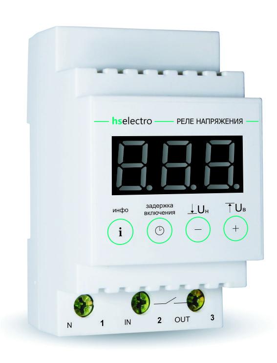 Однофазное реле напряжения Вольт контроль для квартиры с термозащитой УКН-40с
